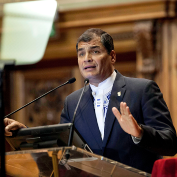 Ecuador's President Correa - opposition party a 'media confection'
